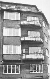bild på fasad innan renovering